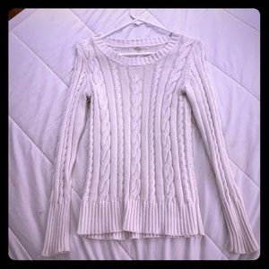 J. Crew white cable knit sweater